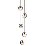 bocci 14.5 five pendant chandelier  -