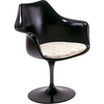 saarinen tulip arm chair - black