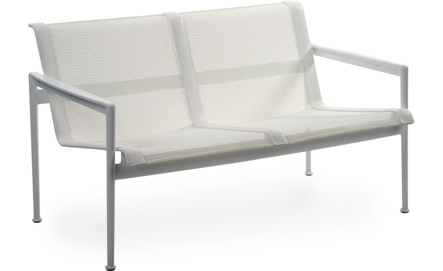 1966 two seat lounge chair with arms