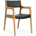 deer arm chair - oak/lacquered