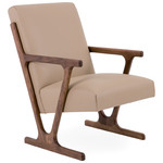 woody lounge chair - oak