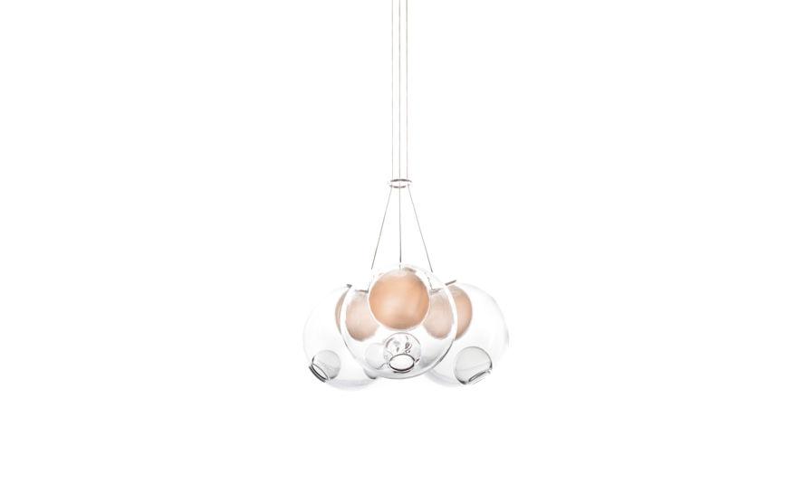 bocci 28.3 cluster three pendant chandelier