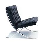 barcelona chair - chrome plated