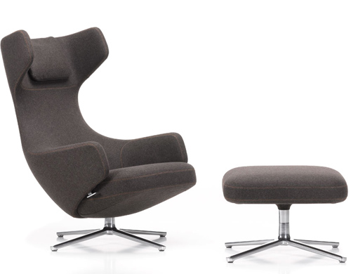 grand repos lounge chair & ottoman