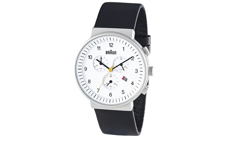 braun men's chronograph watch