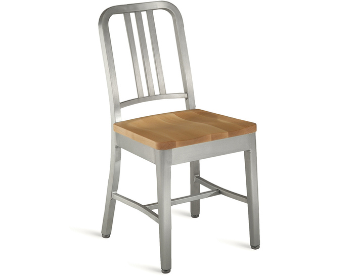 emeco navy chair - wood seat