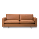 risom 65 two seat sofa with metal base  -