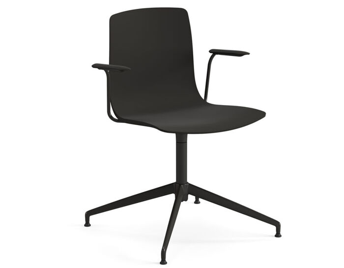aava polypropylene chair with trestle base
