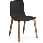 aava polypropylene chair with wood legs  - arper