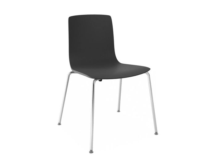 aava polypropylene chair with 4 leg base