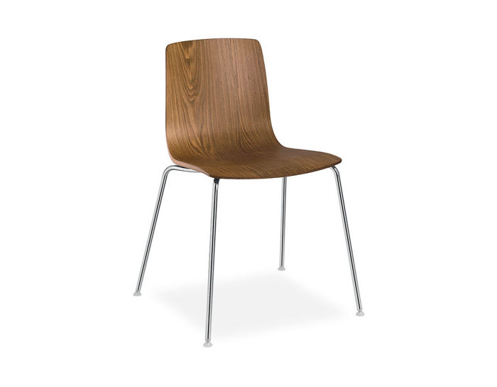 aava wood shell chair with 4 leg base