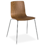 aava wood shell chair with 4 leg base  -