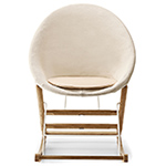ab001 rocking nest chair in canvas  - Carl Hansen & Son