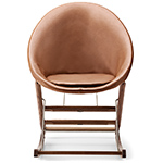 ab001 rocking nest chair with leather front/canvas back  -