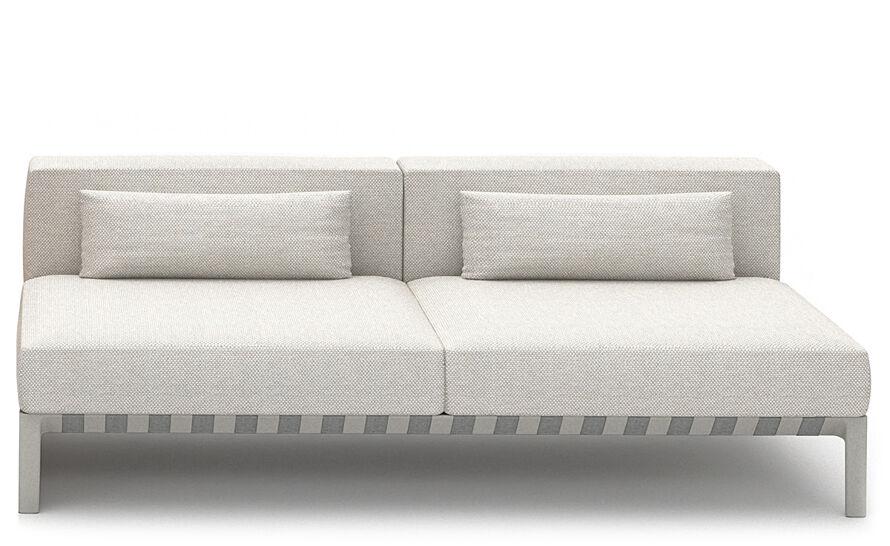 able outdoor 76 inch armless sofa
