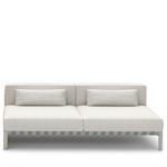 able outdoor 76 inch armless sofa  -