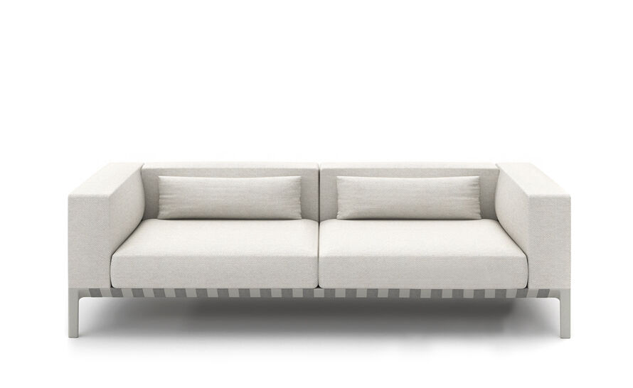 able outdoor 80 inch sofa with arms