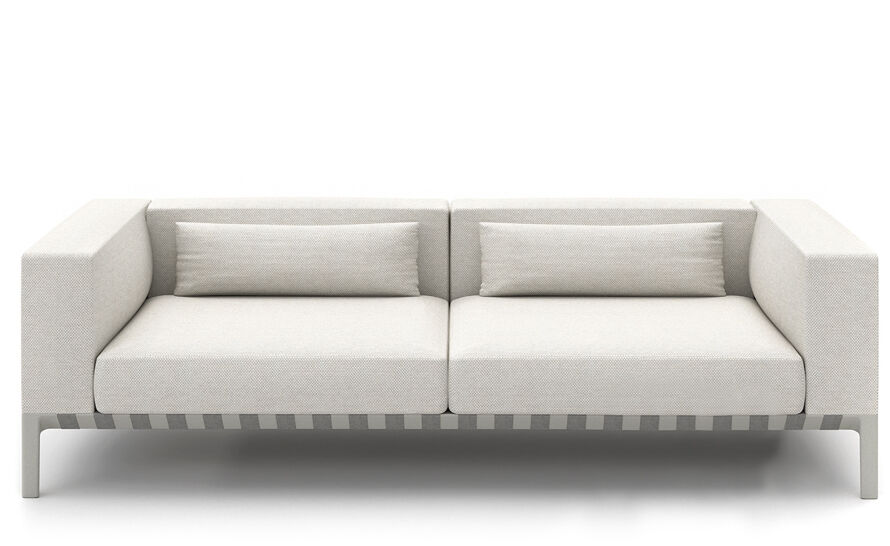able outdoor 92 inch sofa with arms