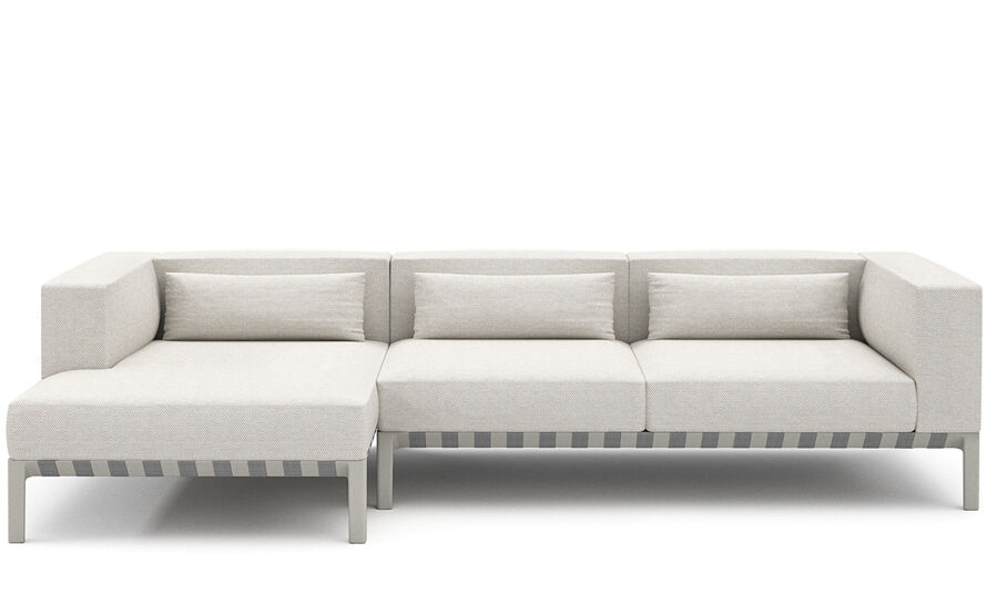 able outdoor small sofa with chaise