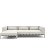 able outdoor small sofa with chaise  -