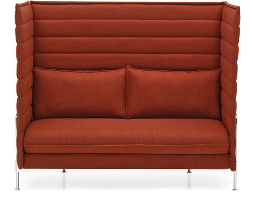alcove highback two seater sofa