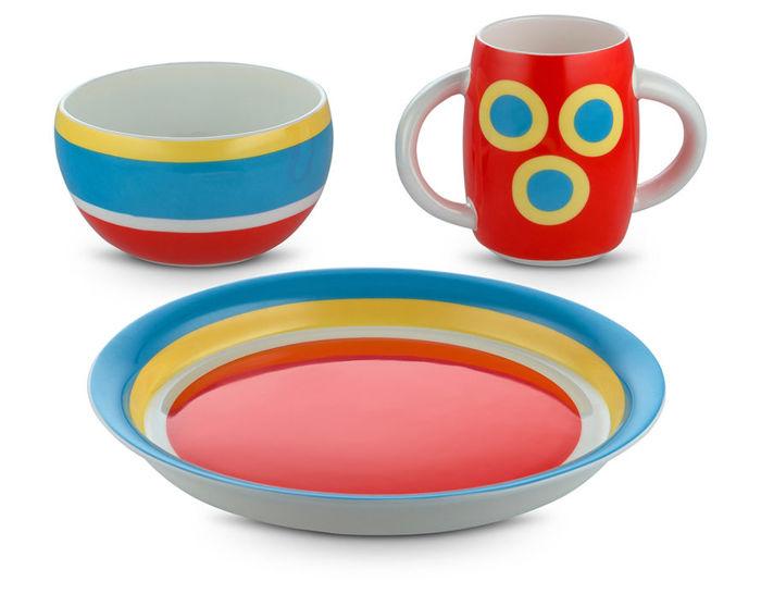 alessini con-centrici children's tableware set