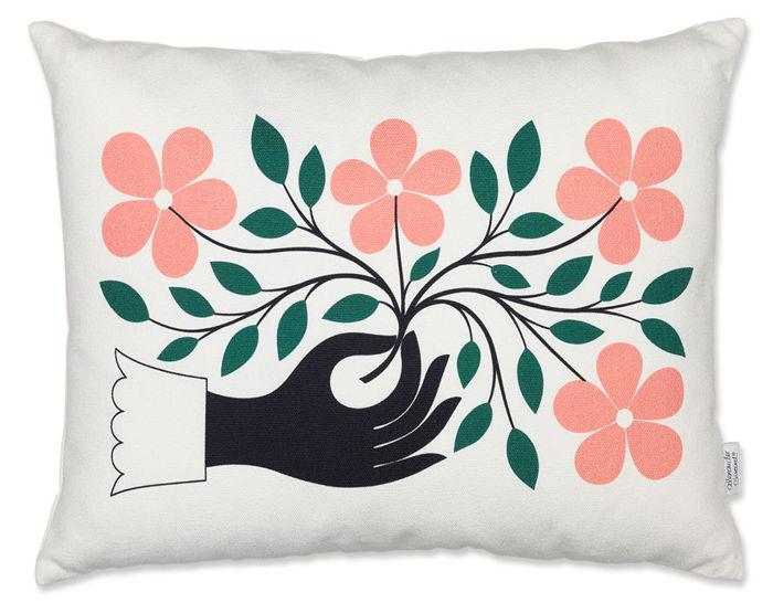alexander girard graphic print hand pillow