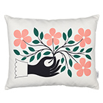 alexander girard graphic print hand pillow
