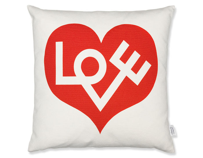 alexander girard graphic print love pillow