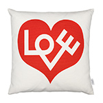 alexander girard graphic print love pillow  -