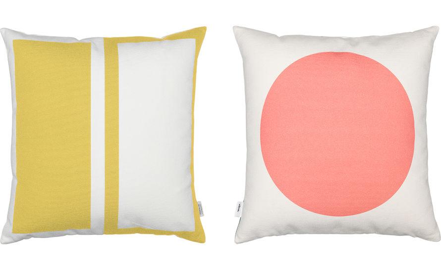 Alexander Girard Graphic Print Rectangles/circle Pillow - hivemodern.com