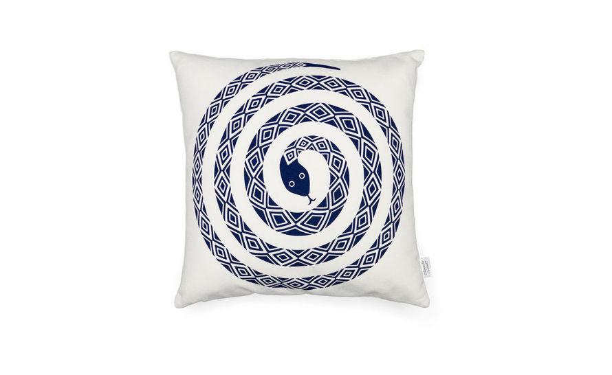Hive Modern Pillows : Alexander Girard Graphic Print Snake Pillow - hivemodern.com
