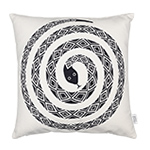 alexander girard graphic print snake pillow