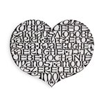alexander girard metal wall relief international love heart  -