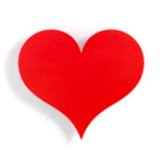 alexander girard metal wall relief little red heart  -
