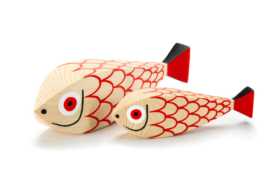 alexander girard mother fish & child wooden doll