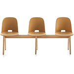 alfi high back 3 seat bench - Jasper Morrison - emeco