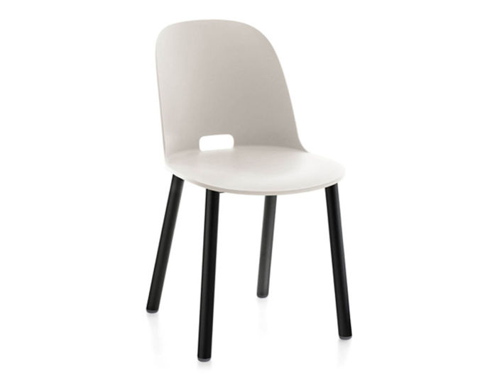 alfi high back chair with aluminum base