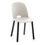 alfi high back chair with aluminum base  -