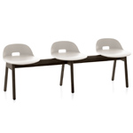alfi low back 3 seat bench - Jasper Morrison - emeco