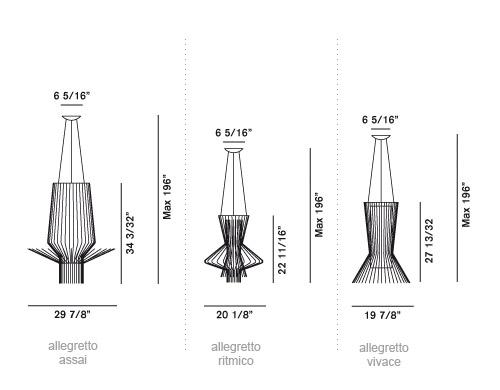 allegretto suspension lamps