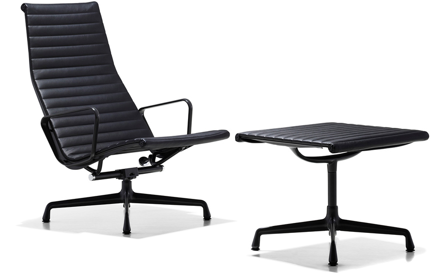 eames® aluminum group lounge chair & ottoman