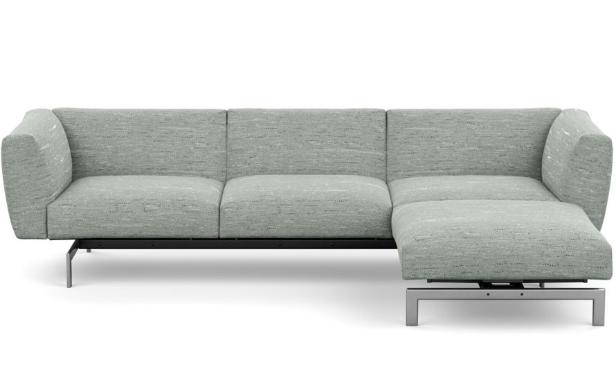 avio three seat sofa with ottoman
