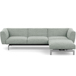 avio three seat sofa with ottoman - Piero Lissoni - Knoll