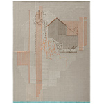 backstitch composition rug  - GAN