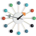 george nelson ball clock in multicolor  -