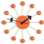 george nelson ball clock in orange  -