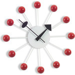 george nelson ball clock in red  -