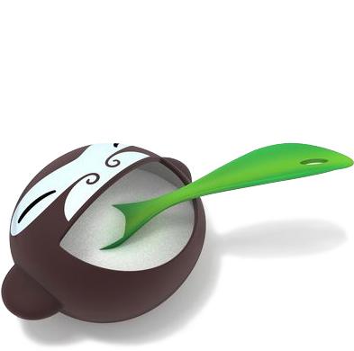 Banana Kid Sugar Bowl With Spoon