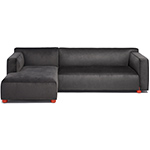 barber & osgerby asymmetric sofa with chaise  -